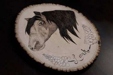 HORSE WOOD BURNING by aashler