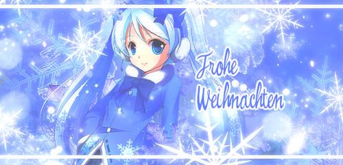 Frohe Weihnachten - Hatsune Miku by WatteBlume