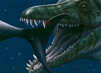 Pliosaur by EsthervanHulsen