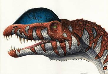 Dilophosaurus by EsthervanHulsen