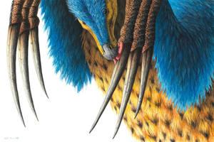 Therizinosaurus by EsthervanHulsen