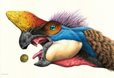 Oviraptor by EsthervanHulsen
