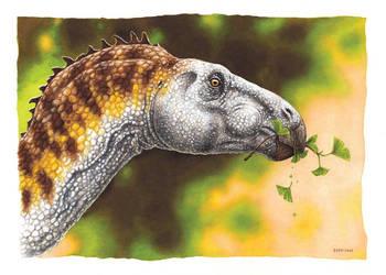 Hadrosaur from Spitsbergen by EsthervanHulsen