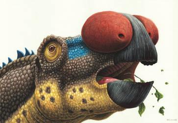 Muttaburrasaurus by EsthervanHulsen