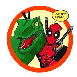 deadpool and T-rex by AdrianaWentz26