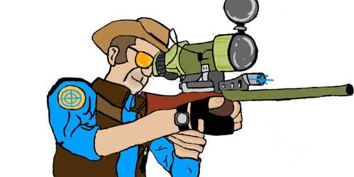 The sniper in blu by Katanatix