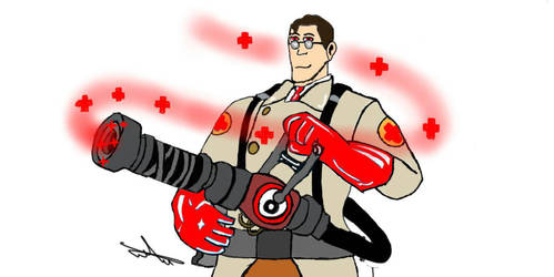 The medic in red by Katanatix