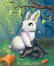 bunnies : cute and big-eared by Stasushka