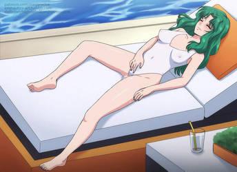 Neptune by the Pool by Eronautics