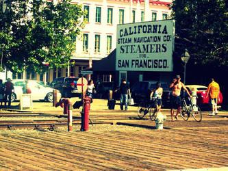 Streets of Old Sacramento by LightBulbLovesYou