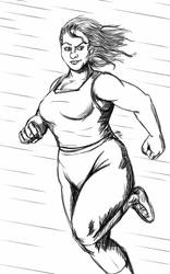 Daily Sketch: Workout Confidence by Hunchy