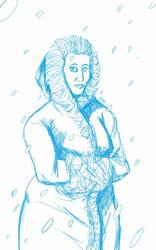 Daily Sketch: Snow Princess by Hunchy