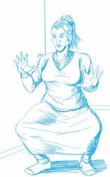 Daily Sketch: Bath Time Goalie by Hunchy