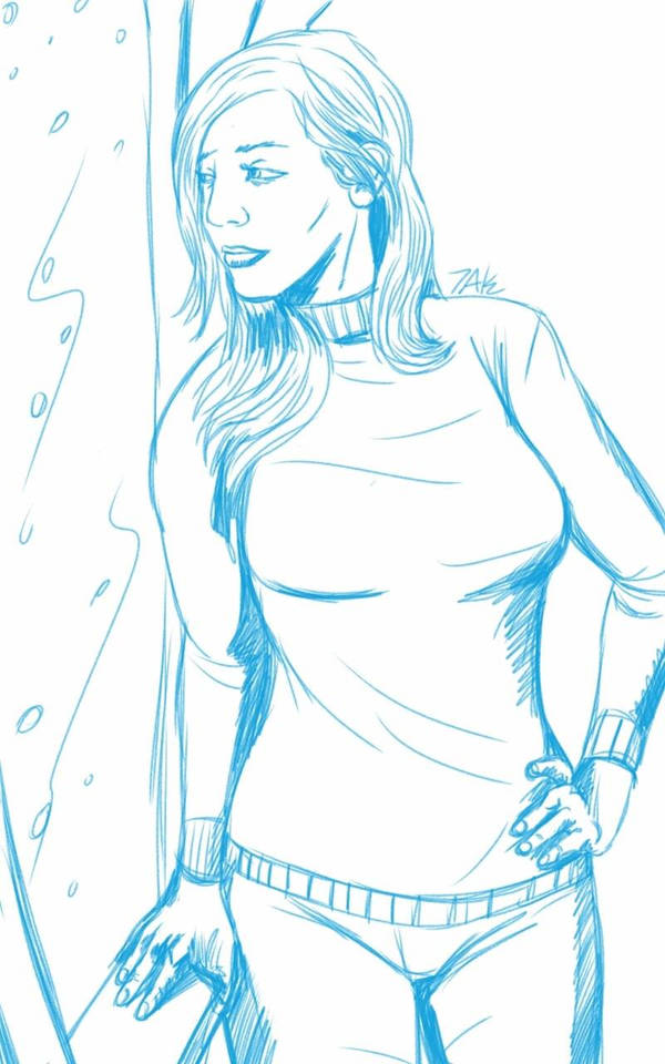 Daily Sketch: Watching the Snow by Hunchy
