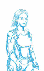Daily Sketch: The Service Woman by Hunchy