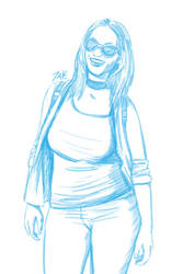 Daily Sketch: College Girl by Hunchy