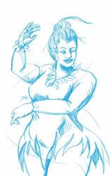 Daily Sketch: Sugar Plum Fairy by Hunchy