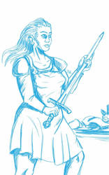Daily Sketch: Preparing for Battle by Hunchy