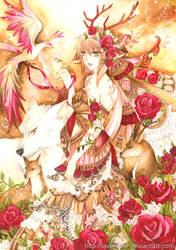 Lady Reindeer by laverinne
