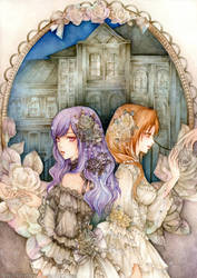 Akari and Sayuri by laverinne