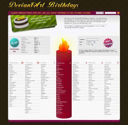 deviantART Birthdays v.5 by birthdays