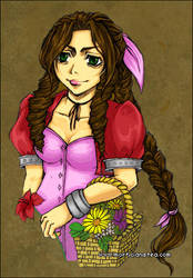 Aeris the Flower Girl by morana-sama