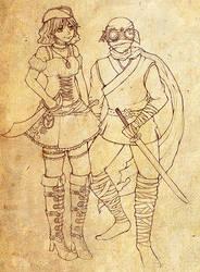 Steampunk Pirate and Ninja by morana-sama