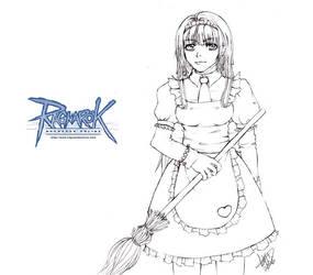 Lineart-Ragnarok Online Alice by morana-sama