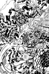 Fantastic Four Inks over AllPat's Pencils by YorkietheInker