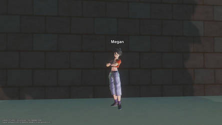 Megan in GT Pan's outfit by Megaslightzx