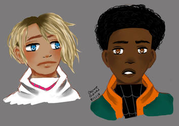 Gwen And Miles by BladeWithin