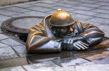 Man at Work-Rubberneck by bojar