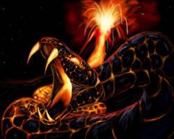 Living eruption by felineflames