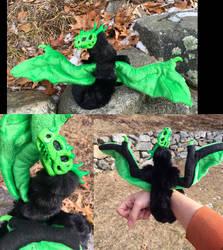 Ectoplasm green lich dragon by felineflames