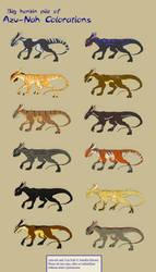 Azu-Nah color schemes by felineflames