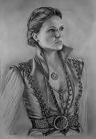 Lana Parrilla (Regina Mills) in pencils - FINISHED by radziczek007