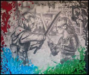 LEXA vs ROAN (Alycia Debnam Carey / Zach McGowan) by radziczek007