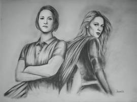Chyler Leigh / Melissa Benoist as Alex / Kara by radziczek007