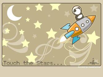 Rocket Riding Space Panda by GenevieveGT