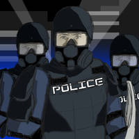 Tablet test - Riot Police by WHAMtheMAN