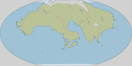 250MYF world map - terrain by Neethis