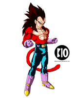 Vegeta SSJ4 DBGT Dokkan Battle Render by BillyZar