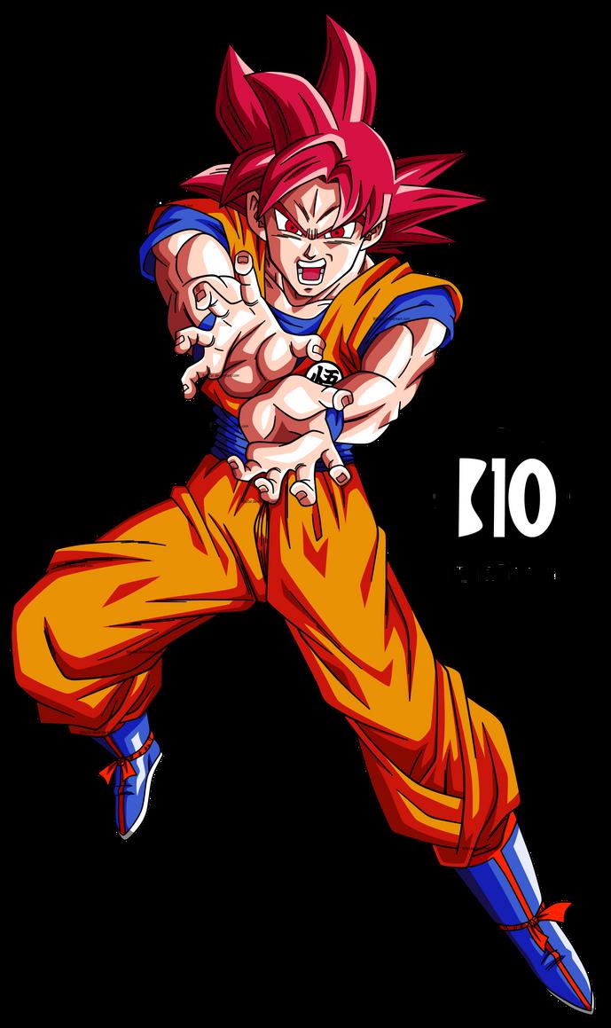 Goku SSJ Dios DBS Dokkan Battle Render by BillyZar