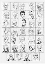 Heads 205-238 by one-thousand-heads