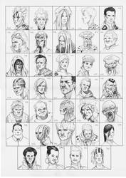 Heads 409-442 by one-thousand-heads