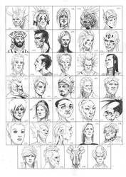 Heads 647-680 by one-thousand-heads