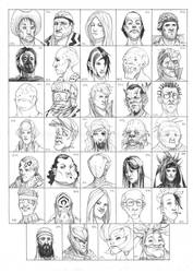 Heads 851-884 by one-thousand-heads