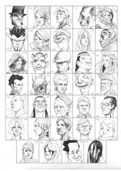 Heads 919-952 by one-thousand-heads