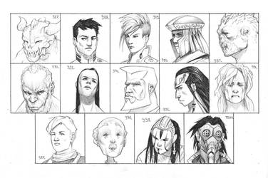 Heads 987-1000 by one-thousand-heads