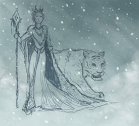 Lady of the Snow - WIP 1 by RestillHabb